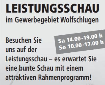Leistungsschau Wolfschlugen 2015
